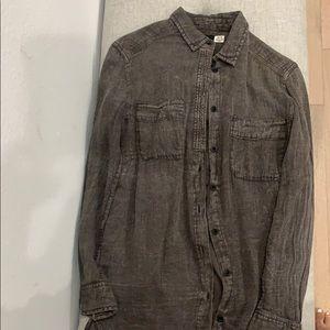 Button up shirt jacket